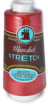 A&E Maxi Lock Stretch Textured Nylon Poppy Red Serger Thread  MWN-45136 - $8.98