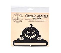Classic Motifs Jack OLantern 6 Inch Charcoal Split Bottom Craft Holder - $14.75