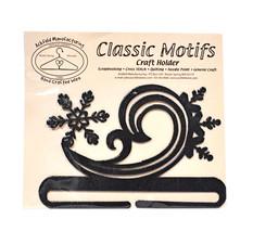 Classic Motifs Snowy Swirl 6 Inch Charcoal Split Bottom Craft Holder - $18.95