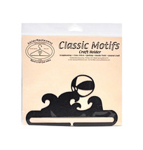 Classic Motifs Beach Ball 6 Inch Charcoal Split Bottom Craft Holder - $12.75