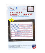 Sampler Embroidery Kit Pledge Of Allegiance - $16.75