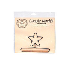 Classic Motifs Star 5 Inch Fabric Holder With Dowel - $10.50