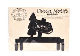 Classic Motifs Summer 6 Inch Charcoal Header - $18.95