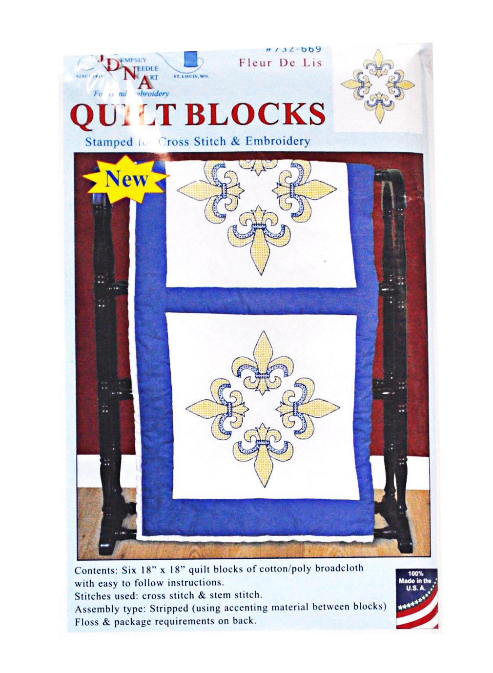 Quilt Blocks Fleur De Lis