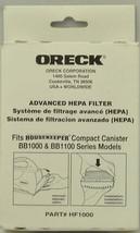Oreck Canister Vacuum Cleaner Hepa Filter, O-HF1000 - $36.75