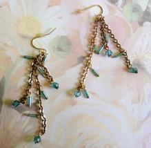 Vintage Earrings, Turquoise Beaded Dangles, Gif... - $10.00