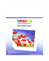 Threads Inkjet Printable Fabrics Cotton Poplin 8 1/2in x 11in - $31.50