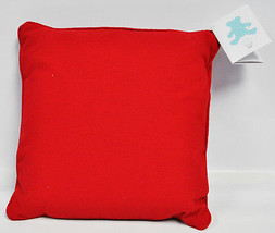 Embroidery Buddy Red Linen Pillow Cover and Foam Insert EB12222R - $26.25