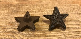 Set of Two Cast Iron Rust Star Drawer Pulls Cabinet Knobs 0170-10310 - $9.35