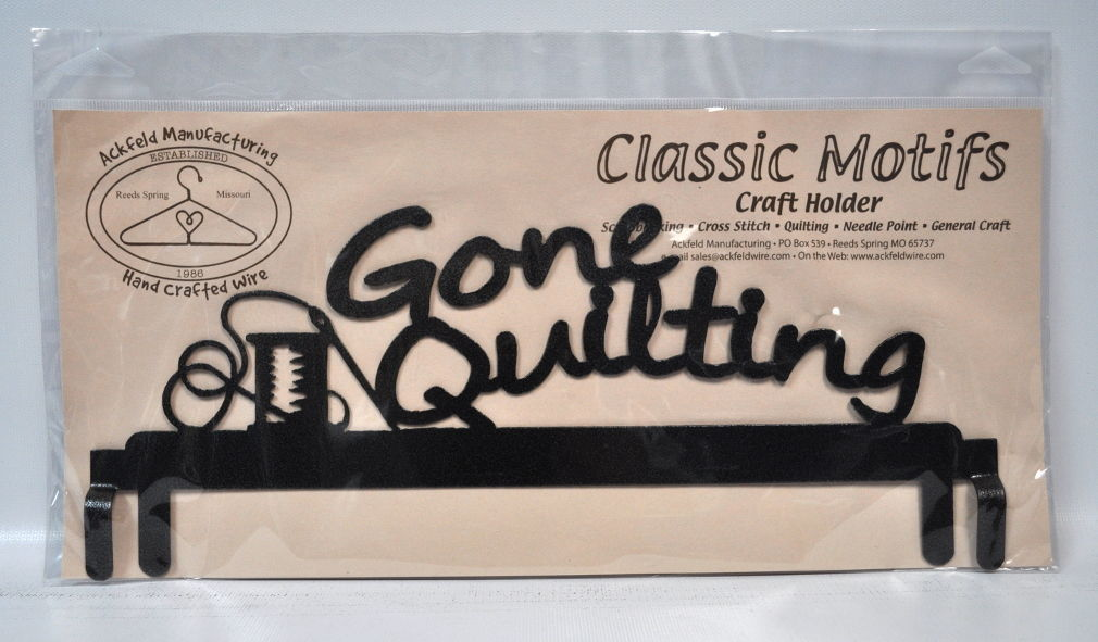 Classic Motifs 12 Inch Gone Quilting Header Charcoal