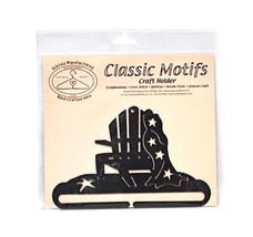 Classic Motifs Beach Chair 6 Inch Charcoal Split Bottom Craft Holder - $13.75