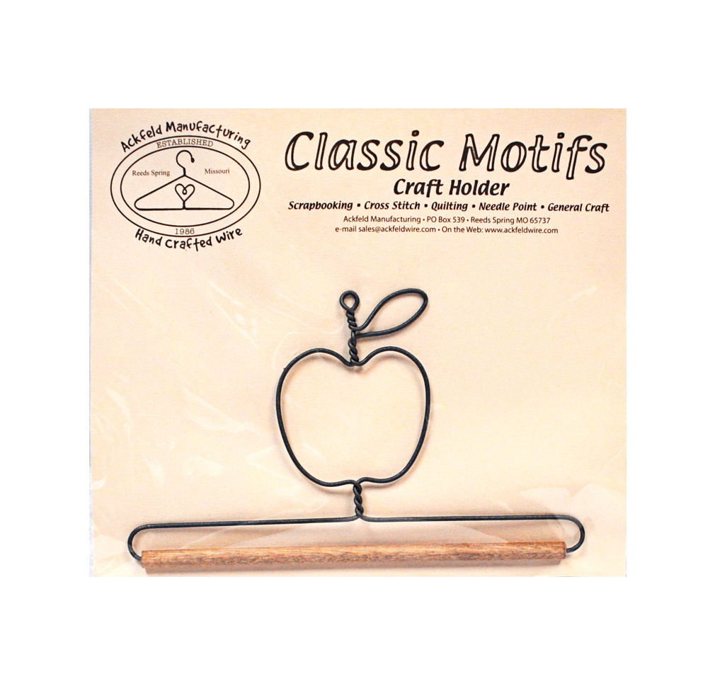 Classic Motifs Apple 6 Inch Fabric Holder With Dowel