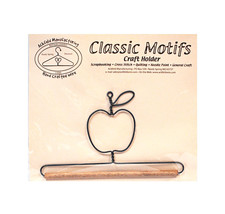 Classic Motifs Apple 6 Inch Fabric Holder With Dowel - $12.75
