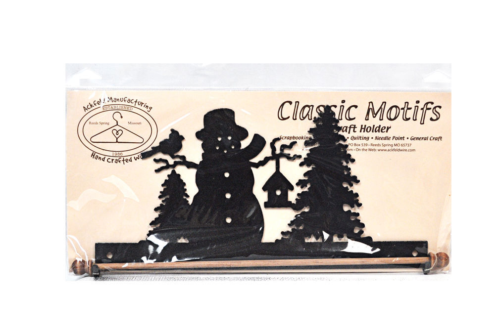 Classic Motifs Frosty Snowman 12 Inch Charcoal Fabric Holder