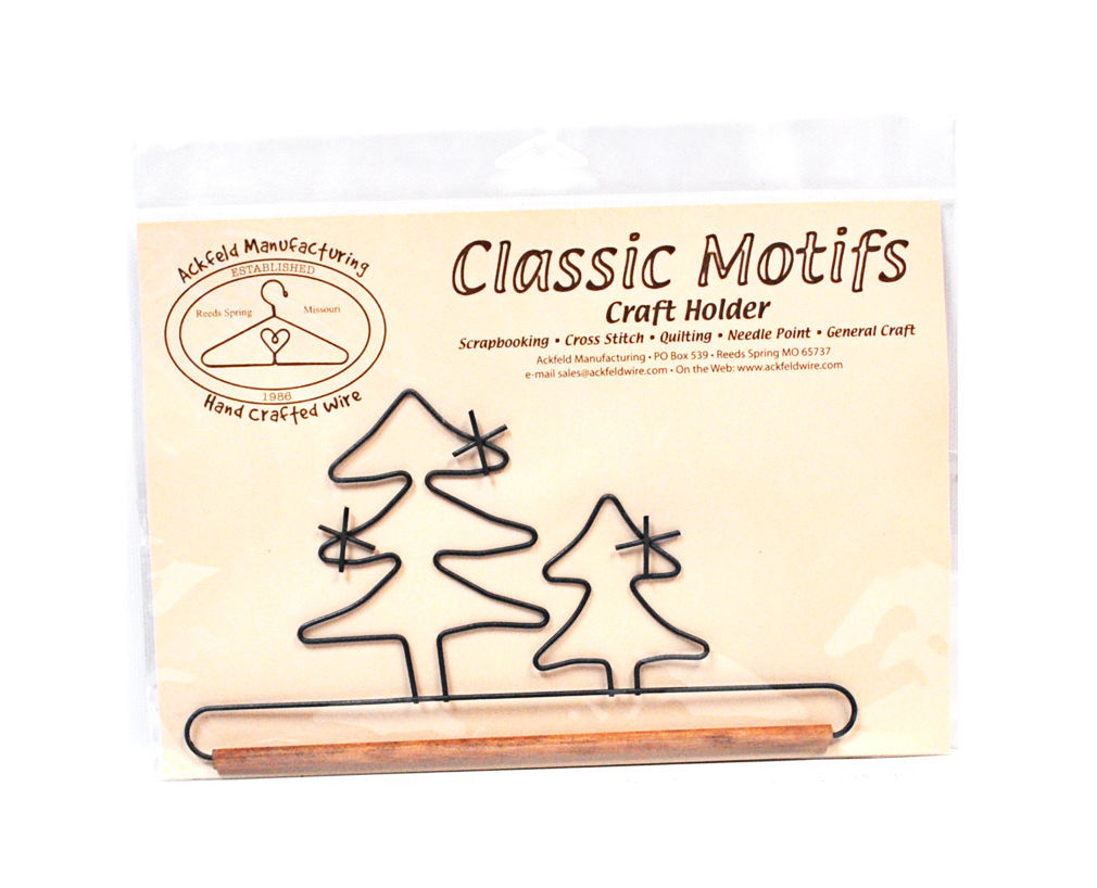Classic Motifs Evergreen Tree 7.5 Inch Fabric Holder With Dowel