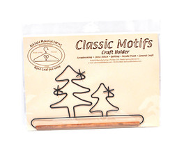 Classic Motifs Evergreen Tree 7.5 Inch Fabric Holder With Dowel - $14.75