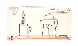 Classic Motifs Coffee Pot 16 Inch Fabric Holder With Dowel - $33.75