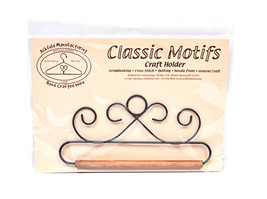 Classic Motifs French Curl 6.5 Inch Fabric Holder With Dowel - $14.75