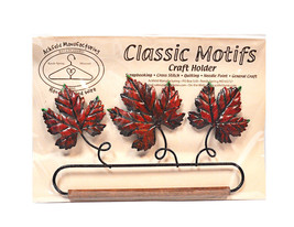 Classic Motifs Autumn Leaf 6.5 Inch Fabric Holder With Dowel - $23.25