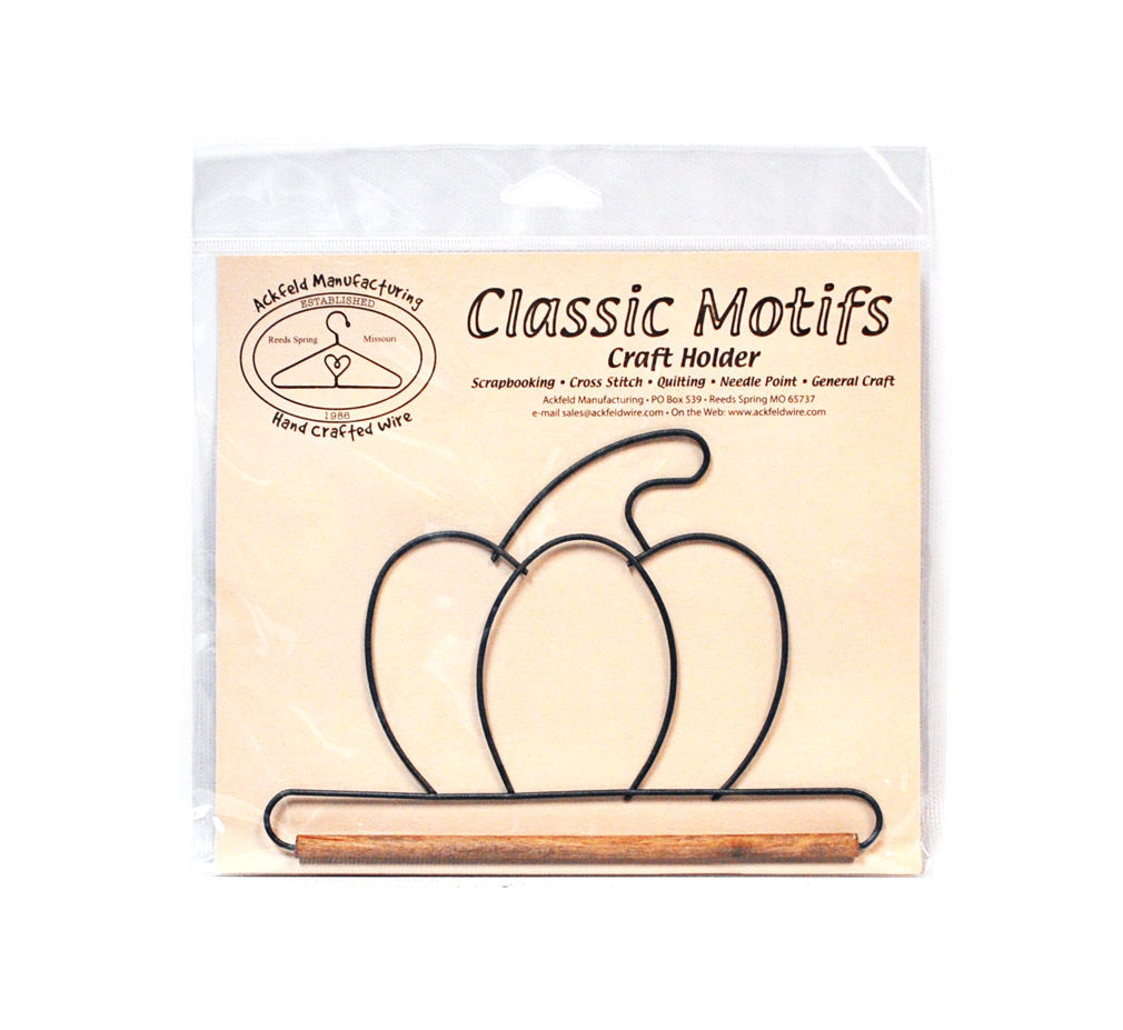 Classic Motifs Pumpkin With Dowel Craft Holder