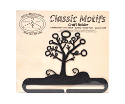 Classic Motifs Winter Tree 6 Inch Charcoal Split Bottom Craft Holder - $16.95
