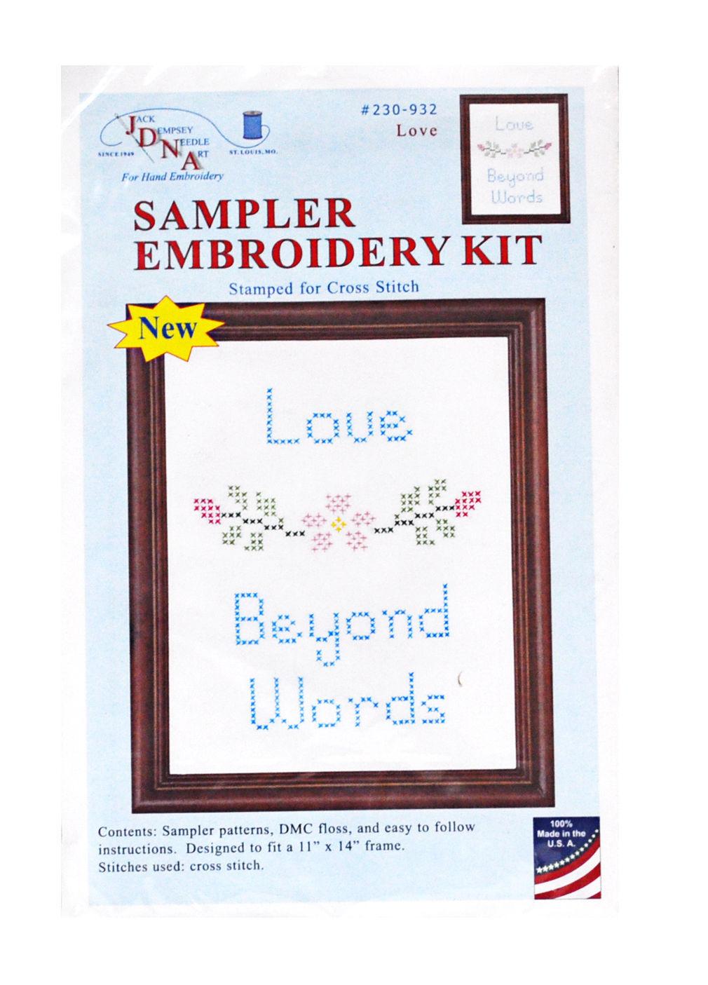 Sampler Embroidery Kit Love