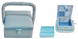 Suzy's Hobby Baskets Small Square Aqua Dot - $50.50