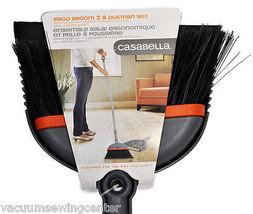 Casabella Ergo Broom 2  and Dustpan Set Graphite And Orange - $41.95