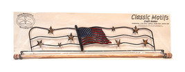 Classic Motifs American Flag 22 Inch Fabric Holder With Dowel - $44.25