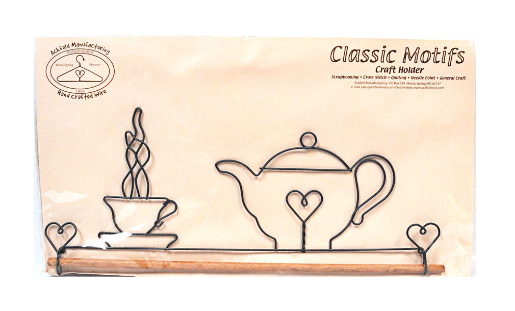 Classic Motifs Teapot 16 Inch Fabric Holder With Dowel