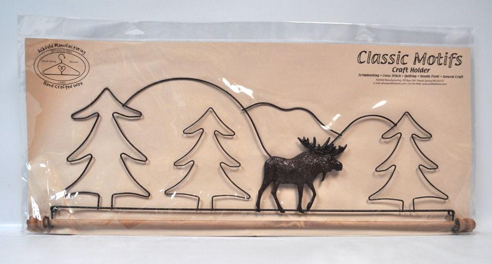 Classic Motifs 22 Inch Tin Moose Craft Holder