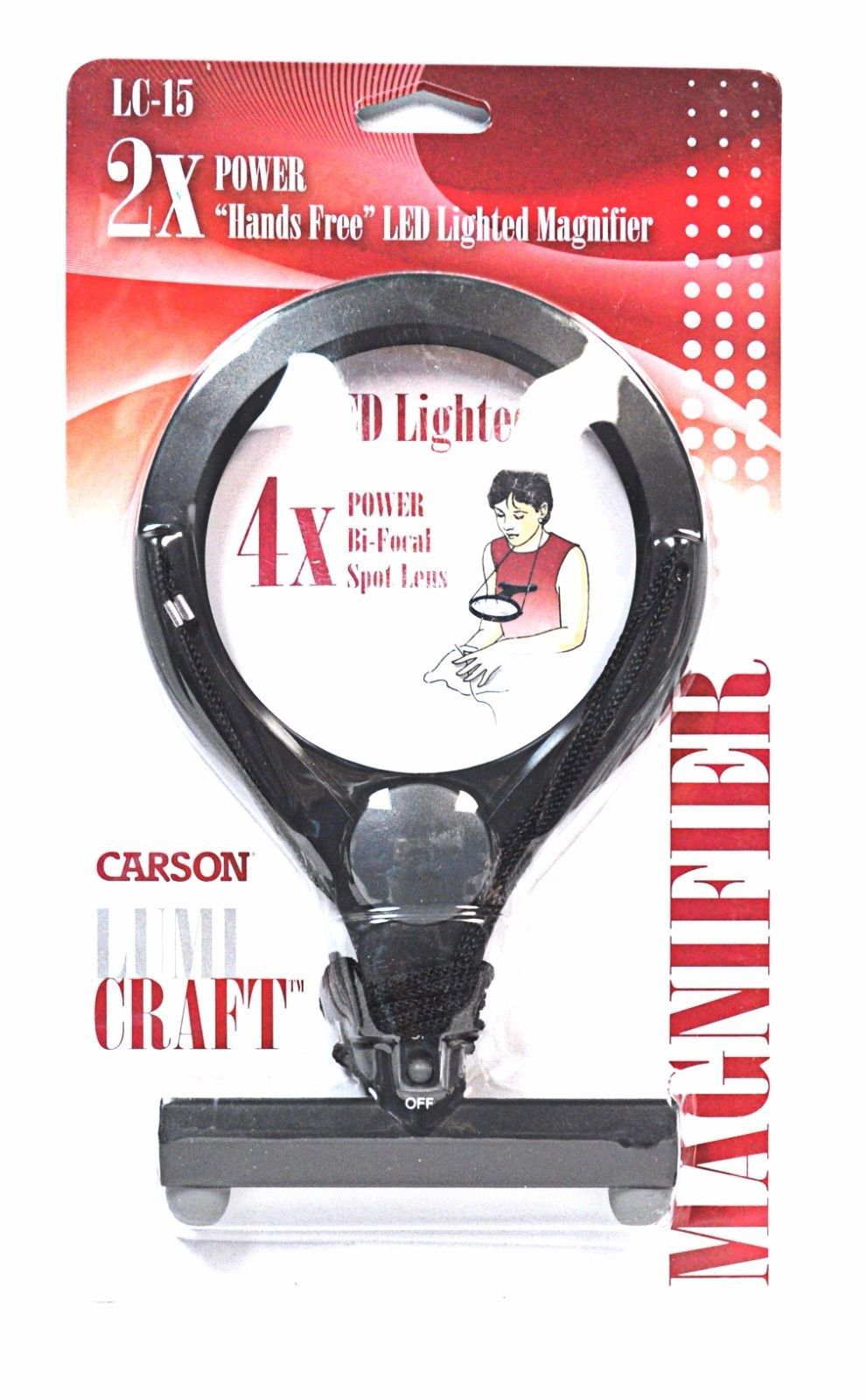 Carson LumiCraft 2x Hands Free Lighted Magnifier