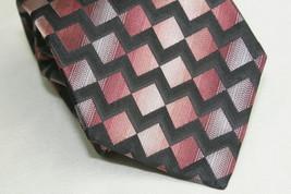 Stafford 100% Imported Silk Neck Tie Geometric - $5.95