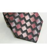 Stafford 100% Imported Silk Neck Tie Geometric - $8.16