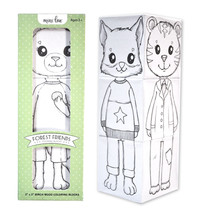 Forest Friends Coloring Block Set - $16.75