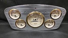 1933 1934 FORD CAR GAUGE CLUSTER GOLD - $238.07