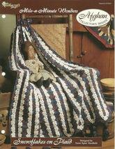 Needlecraft Shop Crochet Pattern 972041 Snowflakes On Plaid Afghan Series - $4.99