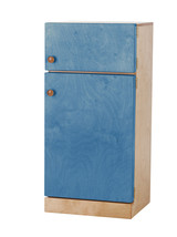 Kitchen Refrigerator ~ Natural Blue Amish Handmade Wood Play Furniture Usa Made - $346.47