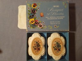 "VINTAGE AVON BOUQUET OF PANSIES TWO ""SPECIAL OCCASION"" FRANGRANCED SOAPS... - $4.94"