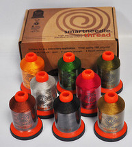 Smartneedle Embroidery Threads Collection 8 Colors With L Bobbins Earthly - $45.25
