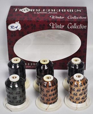 Thimbleberries Winter Super Stitch Cotton Quilting Thread Set.