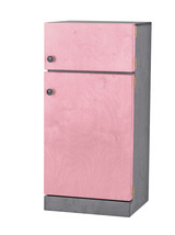 Kitchen Refrigerator ~ Pink & Gray Amish Handmade Wood Play Furniture Usa Made - $346.47