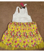 NWT Say What? Elastic waist floral poofy skirt junior's tank top dress L... - $18.53