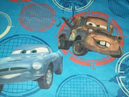 CARS 2 Movie Twin Single Flat Bed Sheet Lightning MCQueen Tow Mater Poly... - $5.41
