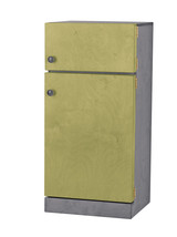 Kitchen Refrigerator ~ Green & Gray Amish Handmade Wood Play Furniture Usa Made - $346.47