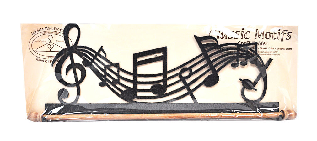 Classic Motifs Music 16 Inch Fabric Holder With Dowel