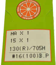 Orange Sewing Machine Needles Size 16, HOBP-100 - $4.20