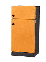 Kitchen Refrigerator - Orange & Black Amish Handmade Wood Toy Furniture Usa - $346.47