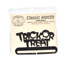 Classic Motifs Trick or Treat 6 Inch Charcoal Split Bottom Craft Holder - $14.75