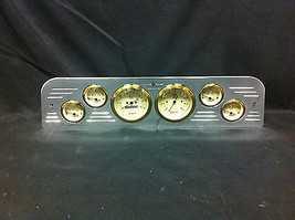 1966 GMC TRUCK 6 GAUGE DASH CLUSTER GOLD - $252.10